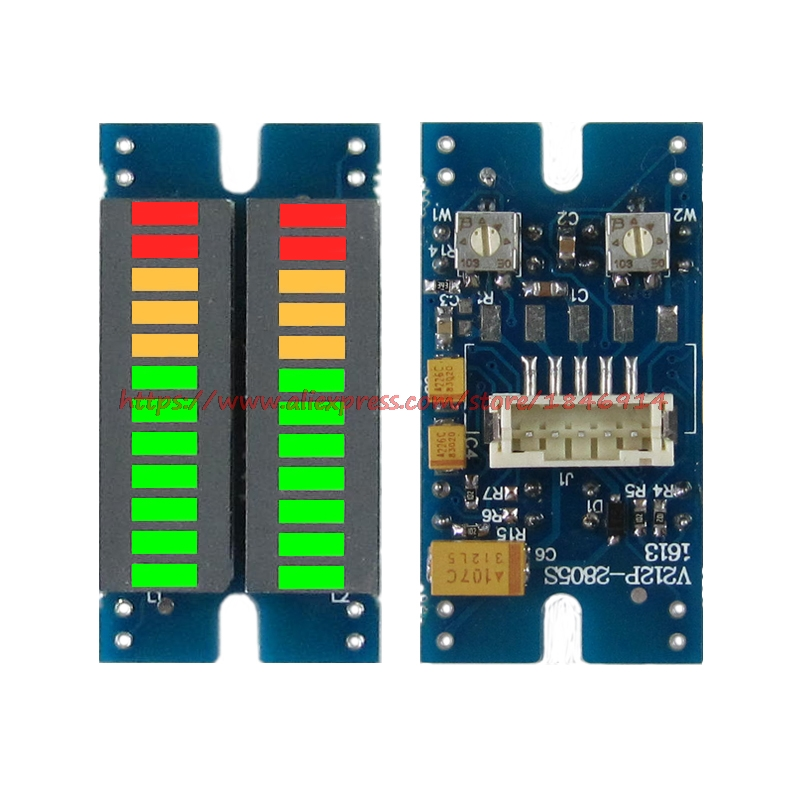 Music spectrum volume level dual channel LED display module Vu audio table(China (Mainland))