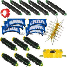 Battery 6 Beater Brushes 6 Bristle Brushes A Bristle Brush Cleaning Tool 6 Filters 6 Side Brushes For iRobot Roomba 580