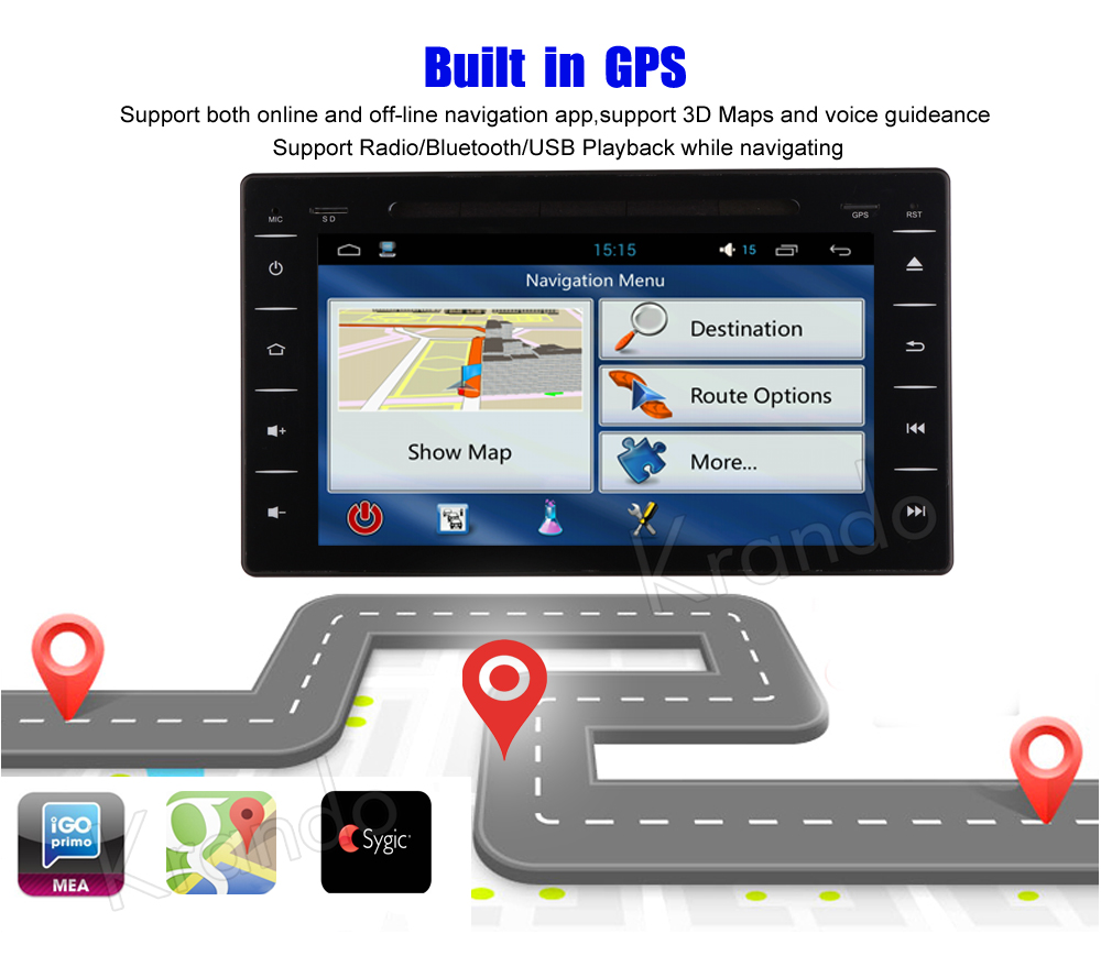 Krando Toyota Hilux Android car radio gps navigation multimedia system (5)