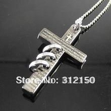 12pcs/lot Wholesale FreeShipping stainless steel Ball Chain steel cross circle pendant Cross Pendant Necklace