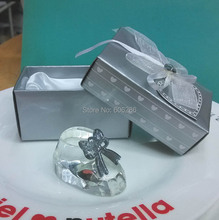 (50PCS/LOT) Choice Crystal Baby Shoe for Christening Favors and Baby Shower Souvenirs Return Gifts
