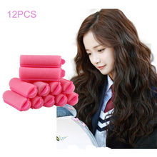 Brand New 12pcs Soft Foam Anion Bendy Hair Tool Hair Rollers Curlers Cling Free Shipping(China)