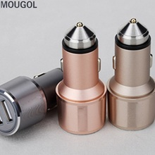QC 3.0 Car Charger 5V 3.4A Double USB Charger Quick charger For iPhone For Xiaomi iphone Car-Charger with safety hammer function