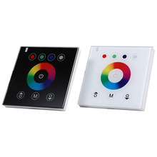 2 Colors Switch LED Light Controller Touch Switch Dimmer 12-24V 4 Channels RGBW Touch Panel Wall-mounted Panel