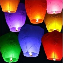 portable chinese lantern Paper Chinese Lanterns Fire Sky Fly Candle Lamp for Birthday Wish Party Wedding Decoration lantern