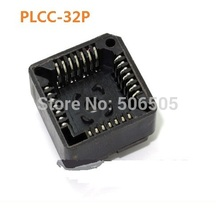 Free shipping PLCC 32 IC socket DIP 32 DIP-32Pins seat microcontroller socket 10pcs/lot(China)