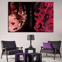 Canvas Paintings Living Room Home Wall Art Decor 1 Piece/Pcs Naruto Uchiha Sasuke Pictures HD Prints Anime Posters Framework