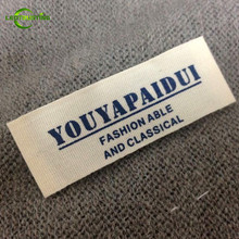 1000pcs Customized Printed White/Beige Cotton Garment Labels/Clothing Tags Custom Brand Logo Printed Labels for Baby Clothing