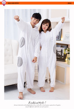 Baymax Unisex Adults Casual Flannel Hooded Pajamas Cosplay Cartoon Cute Animal Onesies Sleepwear Leopard For Women Men(China)