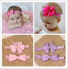 child girl kids elastics hair head bands flower satin ribbon bows headband accessories for newborns hair wrap hairband headwear