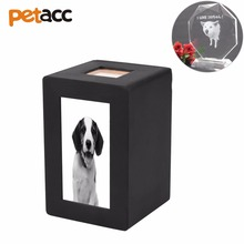 Petacc Pet Wooden Photo Cremation Urn Pet Memorial Urn Practical Pet Memorial Keepsake with Slideable Rear Cover(China)