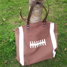 Ready In Stock Ball Tote Blanks Canvas Tote Pattern, Wholesale Foot Tote With Inside Zipper pocket DOM1010292
