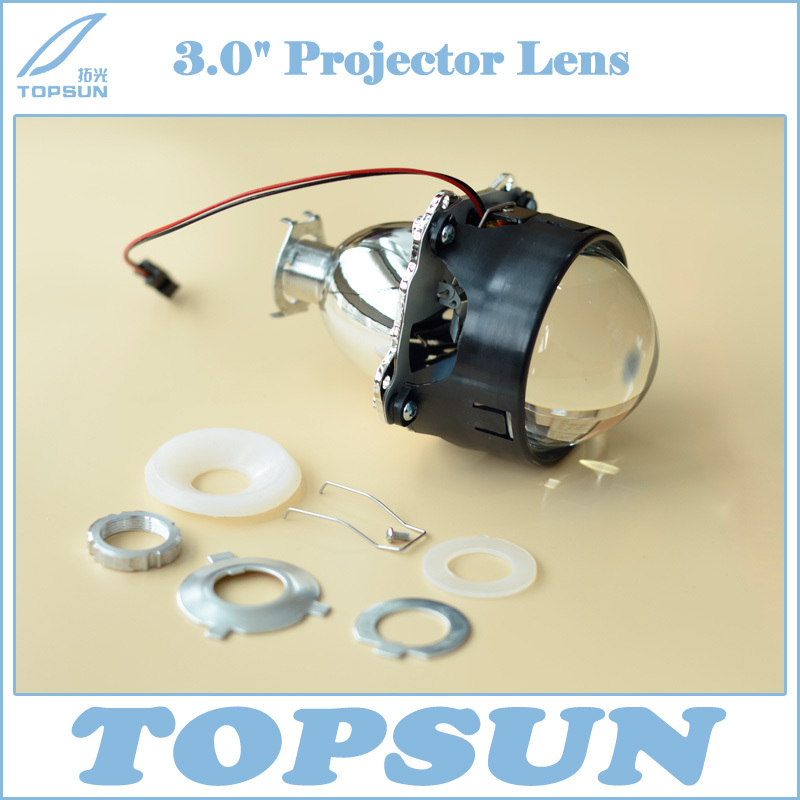 WST 3.0 inch HID Bifocal Projector Lens H1, with Better High Beam, Fit for Headlamp H1 H4 H7 HB3 HB4 Easy Installation<br>