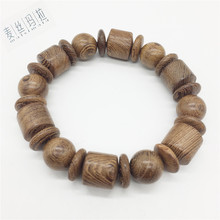 Natural Color Random Spot Fashion Wooden Men Bracelet Men Brand Handmade Diy Jewelry 2018 Valentine's Day Gifts(China)