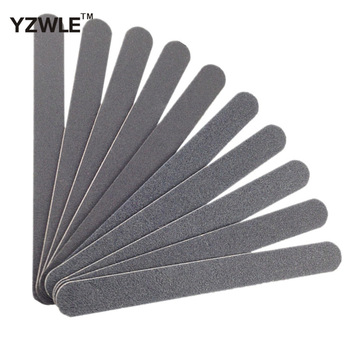 Professional 10pcs/set Black Straight Nail File Buffer Buffing Tools Crescent Grit Sandpaper Tool + Free shipping (NR-WS46)