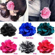 Beauty fashion Rose Flower hairpin brooch hair accessory headband hair rope brooch IMC