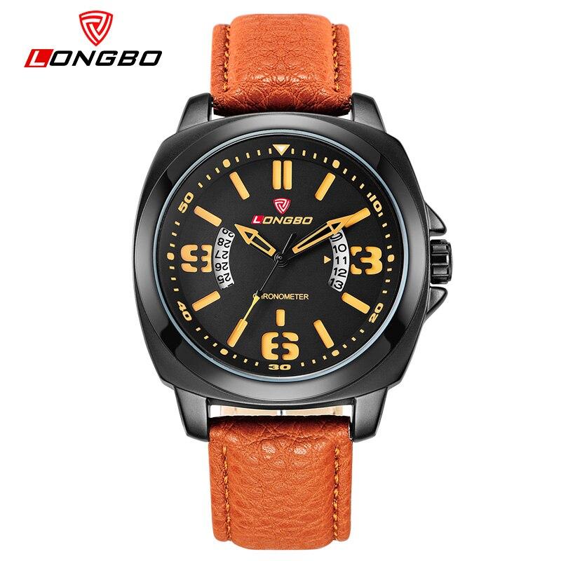 LONGBO fashion casual men quartz watch Luxury Genuine Leather Waterproof sports watches Army Military relogio masculino 80195<br><br>Aliexpress