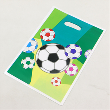 Soccer Sport Theme birthday Gift Bags Decorations kids Favors Happy Party Baby Shower Football Loot Candy Bag Supplies 10pcs/lot