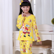 Discount Children Clothes Sets Baby Girls Sleepwear Long Sleeve Leisure Nightwear Kids Pajamas Lovely Autumn Girl Clothing