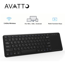 AVATTO Super Slim 2.4G Wireless Gaming Keyboard with Touch Pad for PC Laptop Smart TV Android TV Box