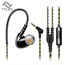 TTLIFE Wired Earphones F1 IPX5 Waterproof Sport Music In-ear Comfortable Original Headset With Mic for Android Phone Xiaomi Mp3(China)