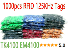8 Color 1000pcs/lot RFID Tag 125khz TK4100 Token Key Fobs Rfid tags For Access Control(China)