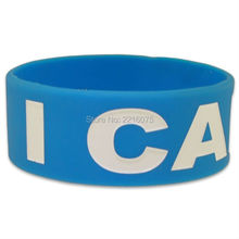300pcs one inch I care Awareness silicone wristband rubber bracelets free shipping by DHL express(China)
