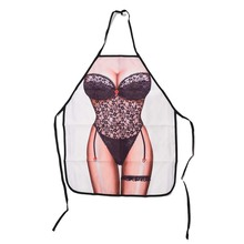Sexy Novelty Apron Naked Woman Men Kitchen Cooking BBQ Party Bar Funny Aprons(China)