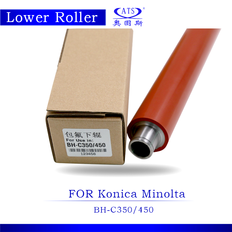 For Konica Minolta BH C350 C450 Pressure Roller Photocopy Machine Lower Fuser Roller Copier Parts BHC350 BHC450<br>