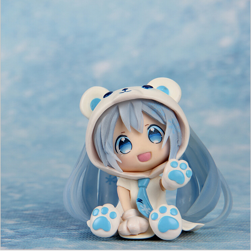 Kawaii Anime Hatsune Miku Action Figure 2 Styles PVC Anime Collectible Model Nendoroid Doll Toys Minifigures Toy for Kids<br><br>Aliexpress