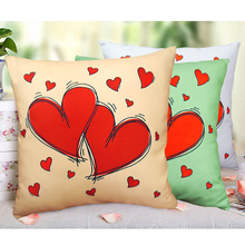 Our hearts will be together forever Personalized lover cushion cover Sweet pattern series pillow case(China)