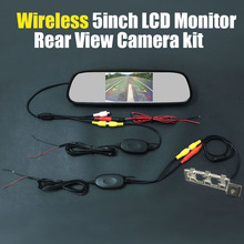 Review Wireless 5inch Mirror LCD DVD Monitor Car Rear View Backup Reverse Camera For Toyota Yaris Sedan / Vios 2008 ~2012