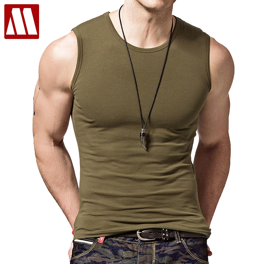 Fitted Workout Sleeveless Basic Solid Tank Top Jersey Casual Shirts Cotton Gym Camo Outfits for Men Fashion Mens Vest Shirt