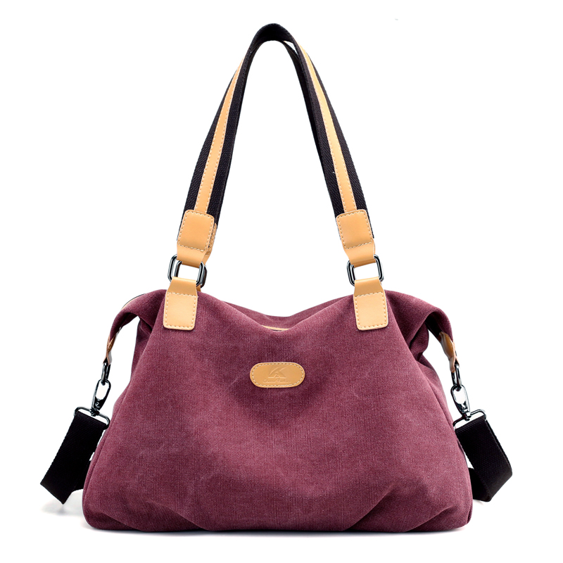 High Quality Canvas Lady Women Handbag Casual Large Capacity Hobos Crossbody Bag Hot Sell Female Totes And Fashion Messenger Bag<br>