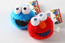 Free Shipping EMS 50pcs/Lot Sesame Street Elmo Cookie Monster Stretching vibration Plush Doll Toy 3""