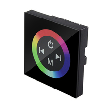 DC12V - 24V 4A*3CH Wall LED Controller Touch Panel RGB Controller Dimmer  For LED Strip Light Blub Home Decoration