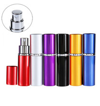 Bittb Mini Spray Perfume Bottle Travel Refillable Empty Cosmetic Container Perfume Bottle Atomizer Aluminum Refillable Bottle