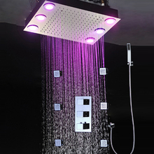 Remote control color need electric power shower unit rain set/brass hand shower/shower hose/shower spray jets