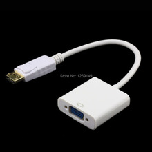 2017 White DisplayPort Male DP to VGA Female M/F Convertor Adapter Cable For Notebook HP/ Dell/ Lenovo/ Toshiba