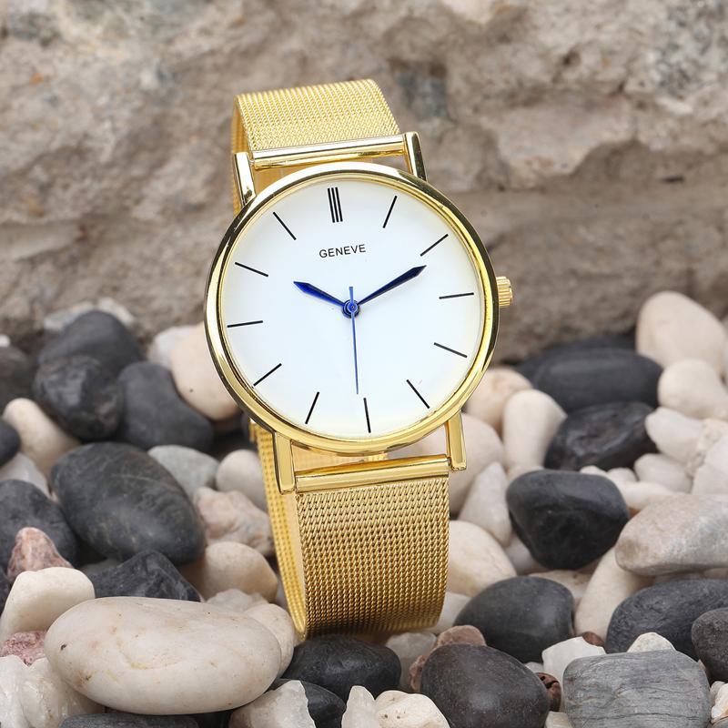 Feitong New 2016 relogio feminino Luxury Brand Watches Women Laides Gold Plated Stainless Steel Band Quartz Wrist Watches Clock<br><br>Aliexpress