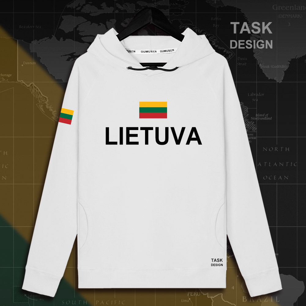 Lithuania Lithuanian LTU Lietuva Lietuvos men hoodie pullovers hoodies men sweatshirt new streetwear clothing Sportswear tracks 19