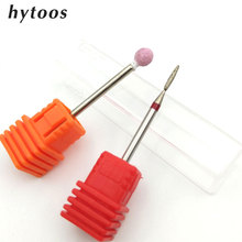 "HYTOOS 2 PCS Diamond Nail Drill Bit 3/32"" Korund Rotary Burr Milling Cutter Bits For Manicure Nail Drill Accessories Nail Tools(China)"