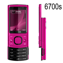 Original NOKIA 6700s 6700 Silder Mobile Phone 3G GSM Unlocked Refurbished Phone Hot pink & Girl phone