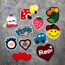JOD Cute Wool Cartoon Patches for Clothes Children DIY Small Embroidery Patch Applique Sewing Applications Clothing Decorative(China)