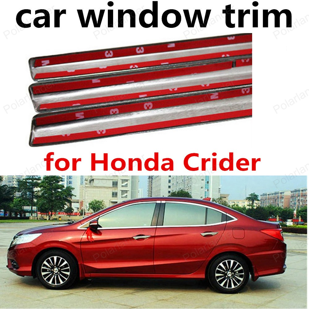 hot!! for Honda Crider Decoration Strips Stainless Steel Window Trim  Without Middle Pillar Car Styling<br><br>Aliexpress