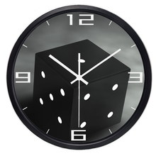 12inch 14inch Brand Modern Fashion Design Dice Square Wall Clock Black and White Hang Clock