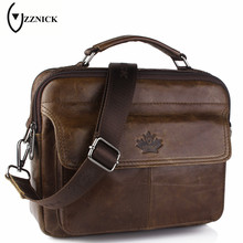 ZZNICK 2017 New Genuine Leather Bag Casual Handbags Cowhide Men Crossbody Bags Men's Travel Bags Tote Laptop Briefcases Men Bag
