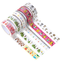 24 Patterns Hot Sale Tape Christmas and flower Print DIY Adhesive Masking Tape Japanese Washi Tape Paper 15mm*10m Wholesale