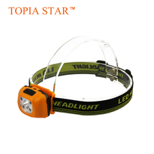 TOPIA SATR Water Resistant Led Mini Headlamp Sensitive Light Multi Colors Head Lamp with Red and White Light