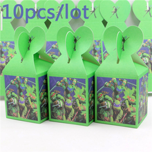 Ninja Turtle Birthday Events Supplies Kids Favors Decoration Party Candy Box Baby Shower Cupcake Paper Gifts Boxes 10pcs\lot
